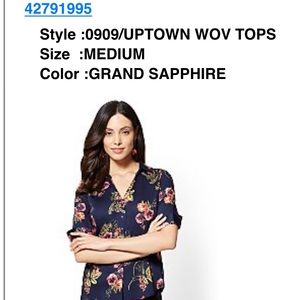 7th Ave Floral Button-Down Top